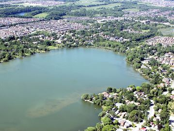 Aerial photograph of Lake Wilcox