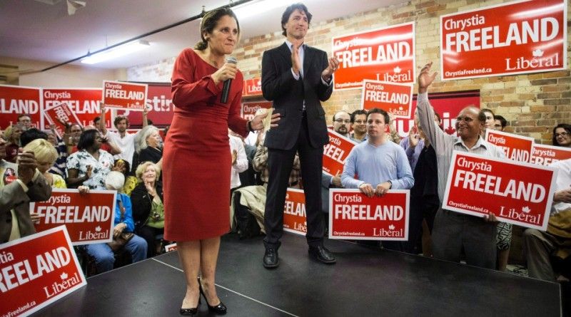 Freeland-Trudeau-at-2013-byelection-rally