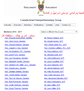 israel-canada parliment