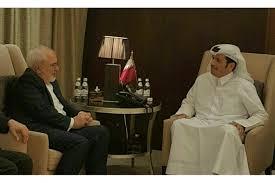 zarif with qatar FM