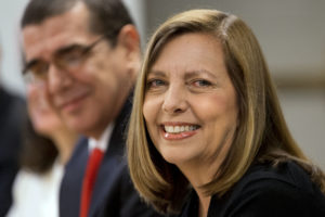 FILE - In this May 21, 2015, file photo, Josefina Vidal, Director General of the U.S. Division of the Ministry of Foreign Affairs, attends the fourth round of talks to re-establish diplomatic relations between the United States and Cuba, at the State Department, in Washington. Cuban officials said on Sunday, July 23 2017, that Vidal, the public face of Cuba's diplomatic opening to the United States will leave her post to become ambassador to Canada. (AP Photo/Jacquelyn Martin, File)