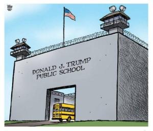 trump public shcool