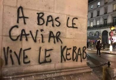 خاوریار و کباب در اعتراضات فرانسه     Down with Caviar , Long live Kebob